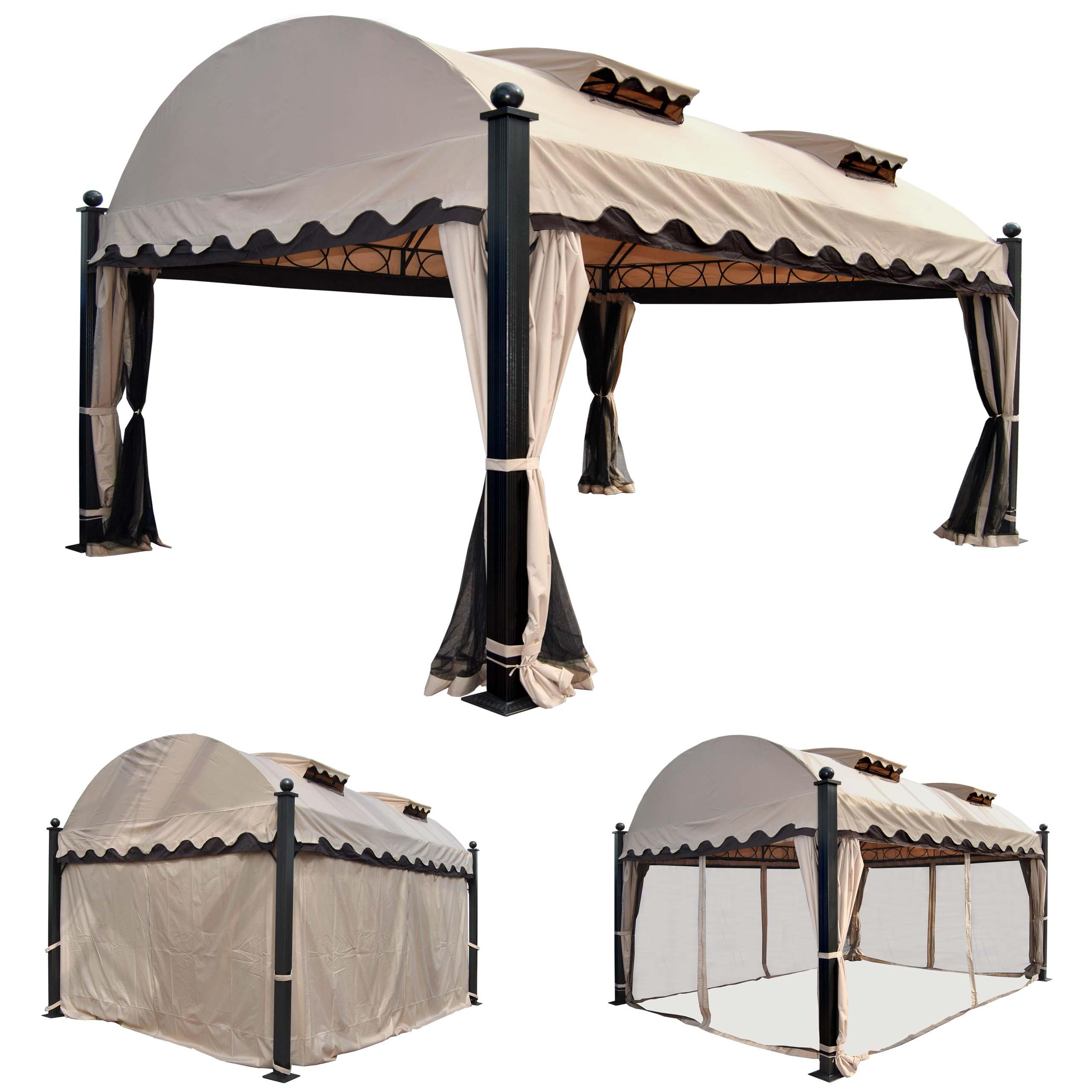 pergola daroca garten pavillon stabiles 10cm luxus alu. Black Bedroom Furniture Sets. Home Design Ideas