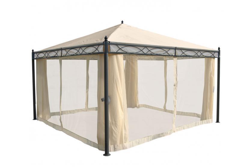 pavillon cadiz garten pergola stabiles 7cm gestell 3x3m 4x3m 4x4m 5x3m ebay. Black Bedroom Furniture Sets. Home Design Ideas
