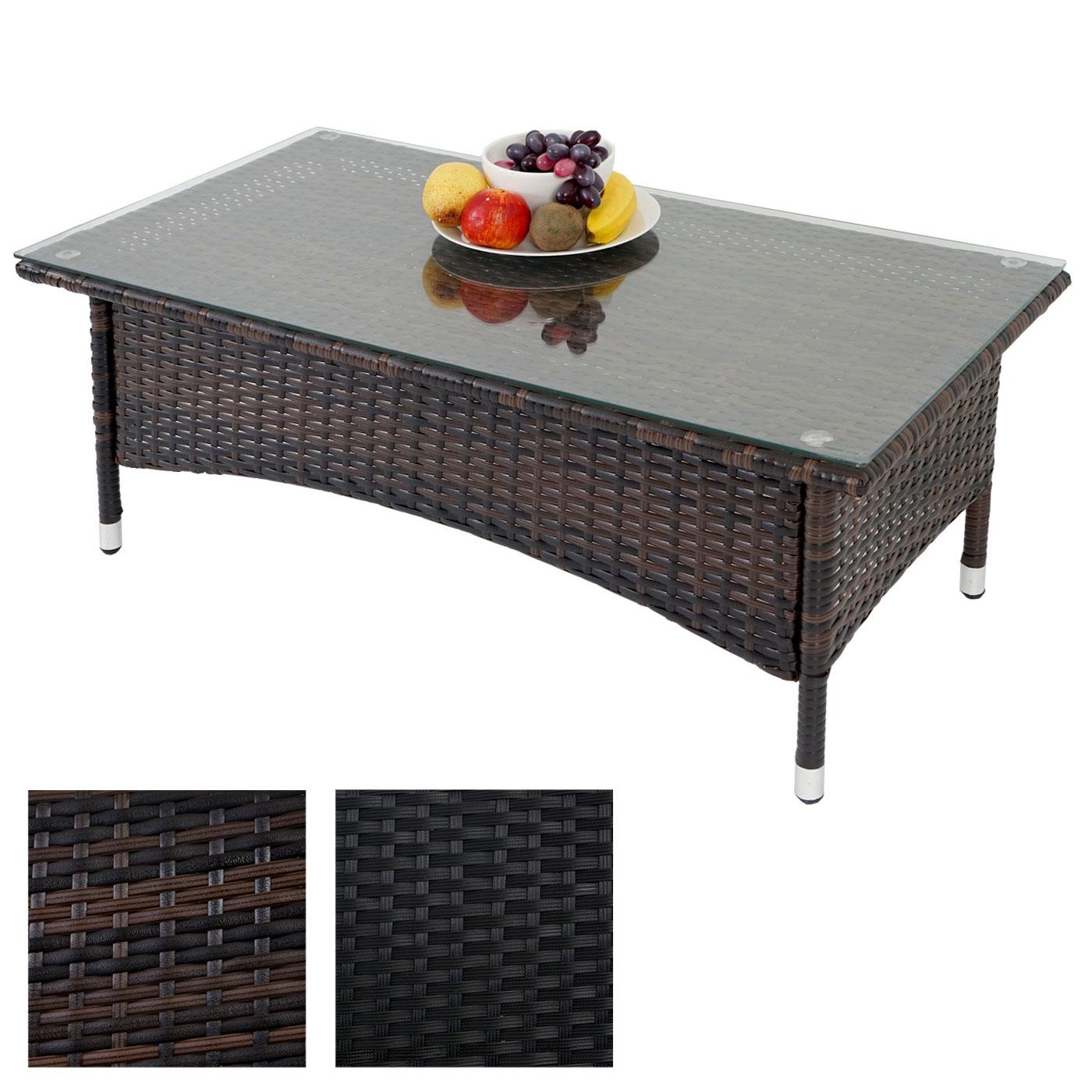 Poly rattan gartentisch rom basic beistelltisch tisch mit for Extra breiter sessel