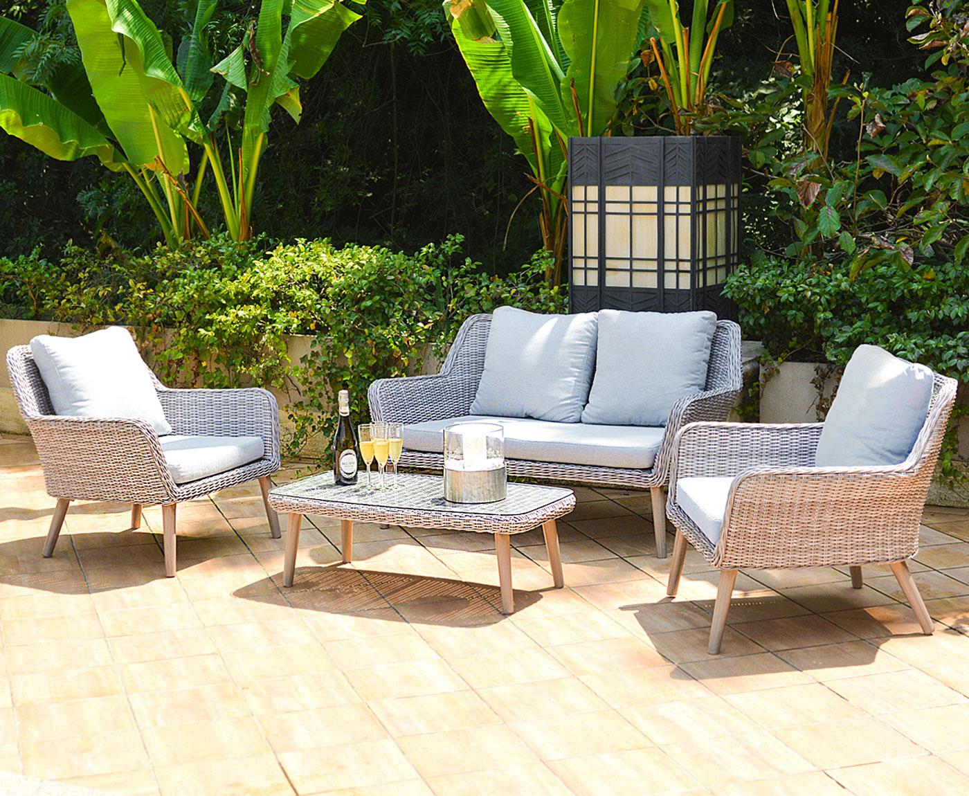 luxus poly rattan garnitur bilbao premium garten set alu gestell ebay. Black Bedroom Furniture Sets. Home Design Ideas