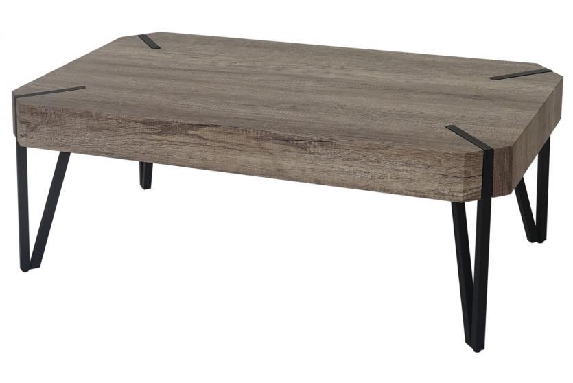 couchtisch genk h573 wildeiche dunkle metall f e fsc. Black Bedroom Furniture Sets. Home Design Ideas