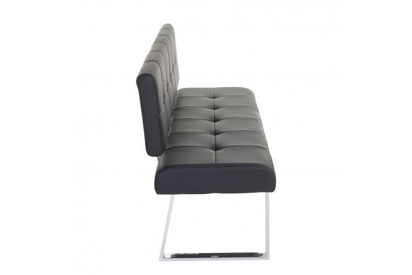 sitzbank konya polsterbank 140cm kunstleder schwarz mit. Black Bedroom Furniture Sets. Home Design Ideas
