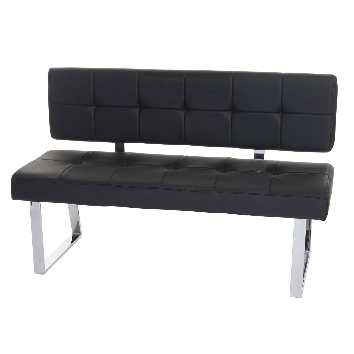 sitzbank konya polsterbank 140cm kunstleder schwarz mit r ckenlehne ebay. Black Bedroom Furniture Sets. Home Design Ideas