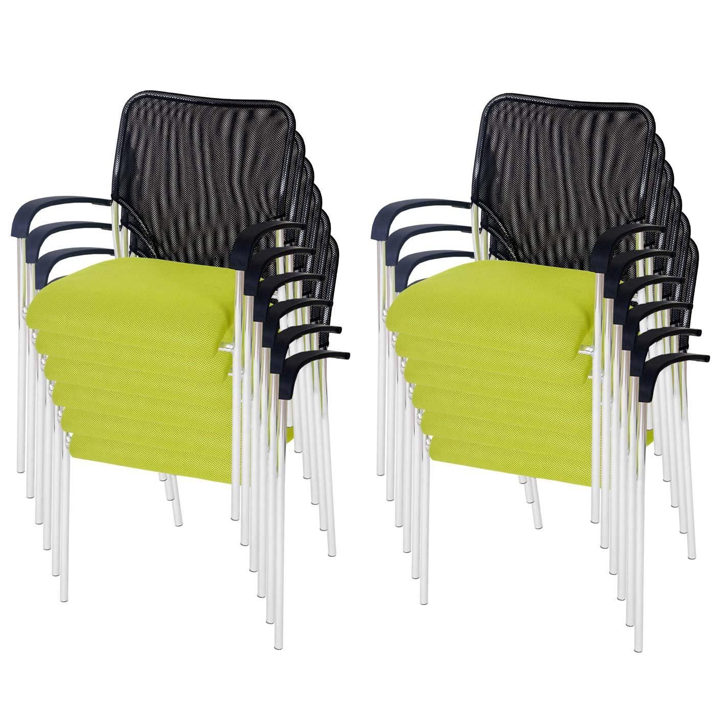 12x besucherstuhl tucson stapelbar textil sitz gr n r ckenfl che schwarz ebay. Black Bedroom Furniture Sets. Home Design Ideas