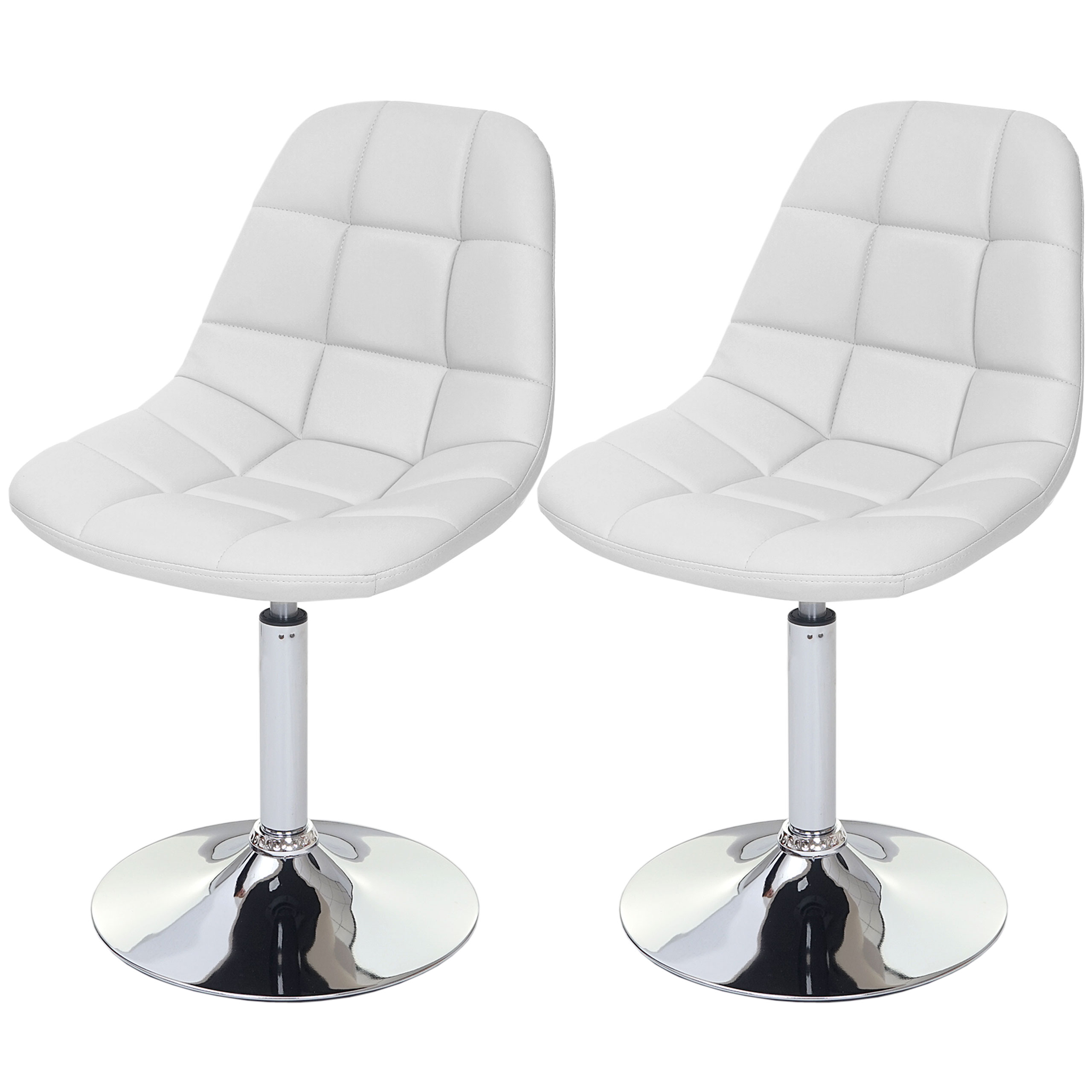 2x esszimmerstuhl pontedera stuhl drehstuhl chrom kunstleder wei ebay. Black Bedroom Furniture Sets. Home Design Ideas