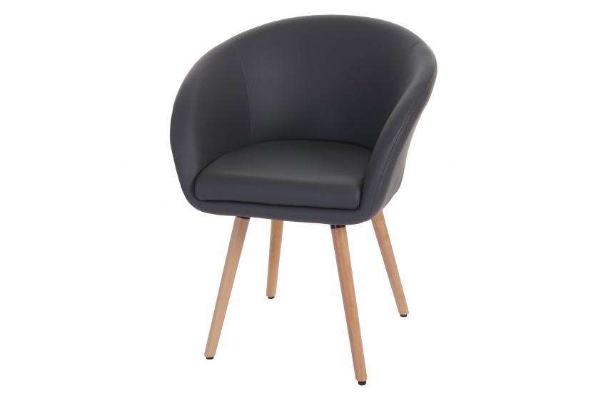 esszimmerstuhl malm t633 stuhl lehnstuhl retro 50er jahre design kunstleder grau. Black Bedroom Furniture Sets. Home Design Ideas