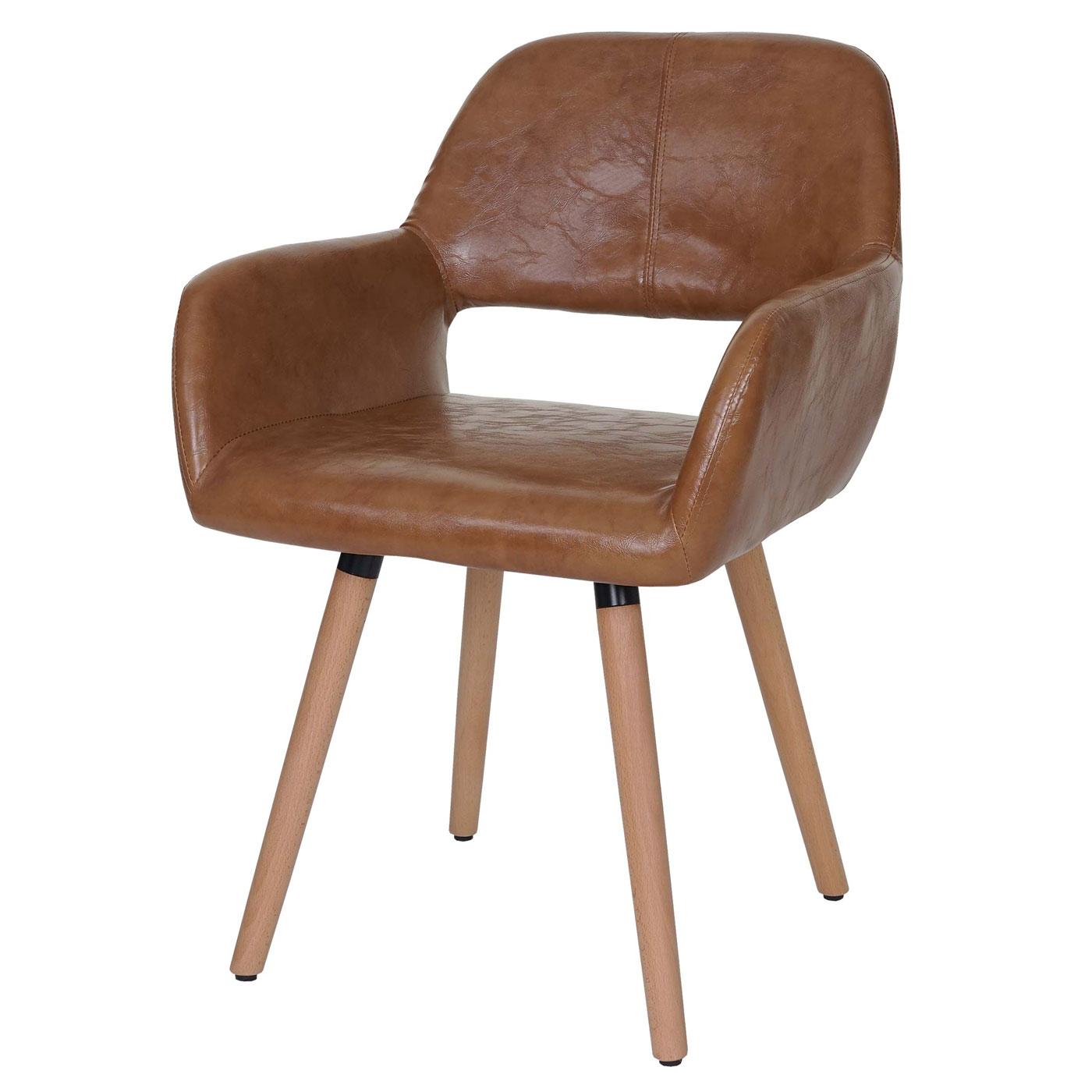 esszimmerstuhl dohna ii stuhl lehnstuhl retro kunstleder wildleder look ebay. Black Bedroom Furniture Sets. Home Design Ideas