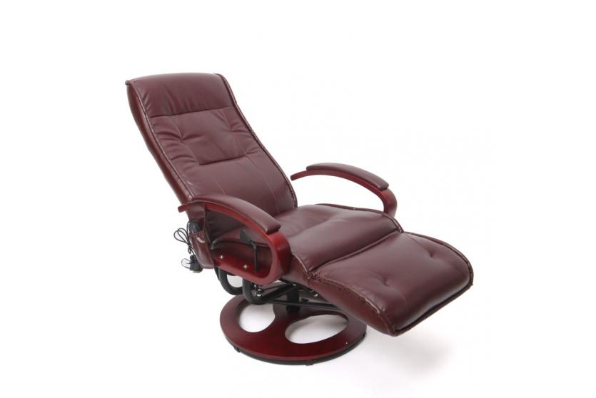 relaxliege relaxsessel arles ii mit massage kunstleder bordeauxrot. Black Bedroom Furniture Sets. Home Design Ideas