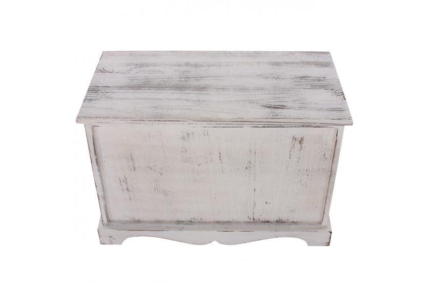 garderobe mit sitzbank kommode mit 2 k rben 42x62x33cm shabby look vintage wei. Black Bedroom Furniture Sets. Home Design Ideas