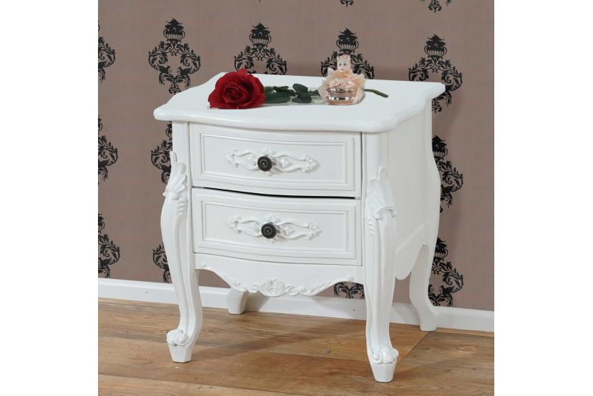 kommode nancy schrank barock antik 50x45x35cm creme wei ebay. Black Bedroom Furniture Sets. Home Design Ideas