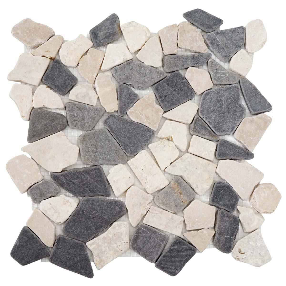 1qm steinfliesen vigo marmor naturstein fliese wand boden. Black Bedroom Furniture Sets. Home Design Ideas