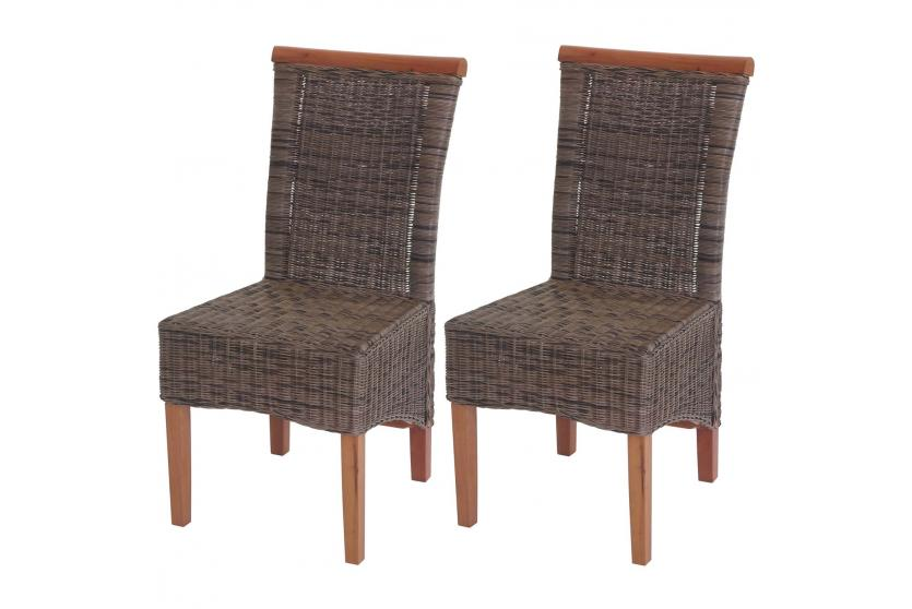 2x esszimmerstuhl sinio stuhl lehnstuhl rattan ohne sitzkissen ebay. Black Bedroom Furniture Sets. Home Design Ideas