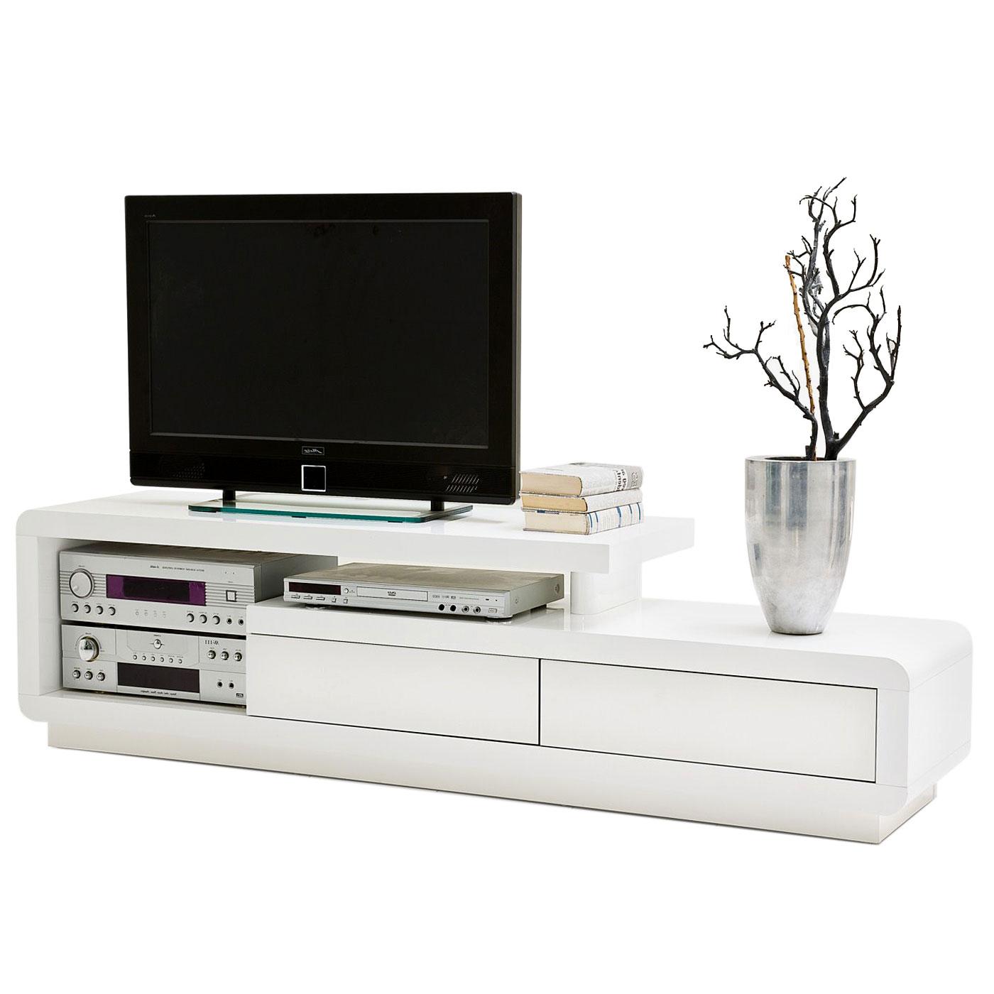 mca tv rack celia lowboard mit schubladen hochglanz wei 45x170x40cm ebay. Black Bedroom Furniture Sets. Home Design Ideas