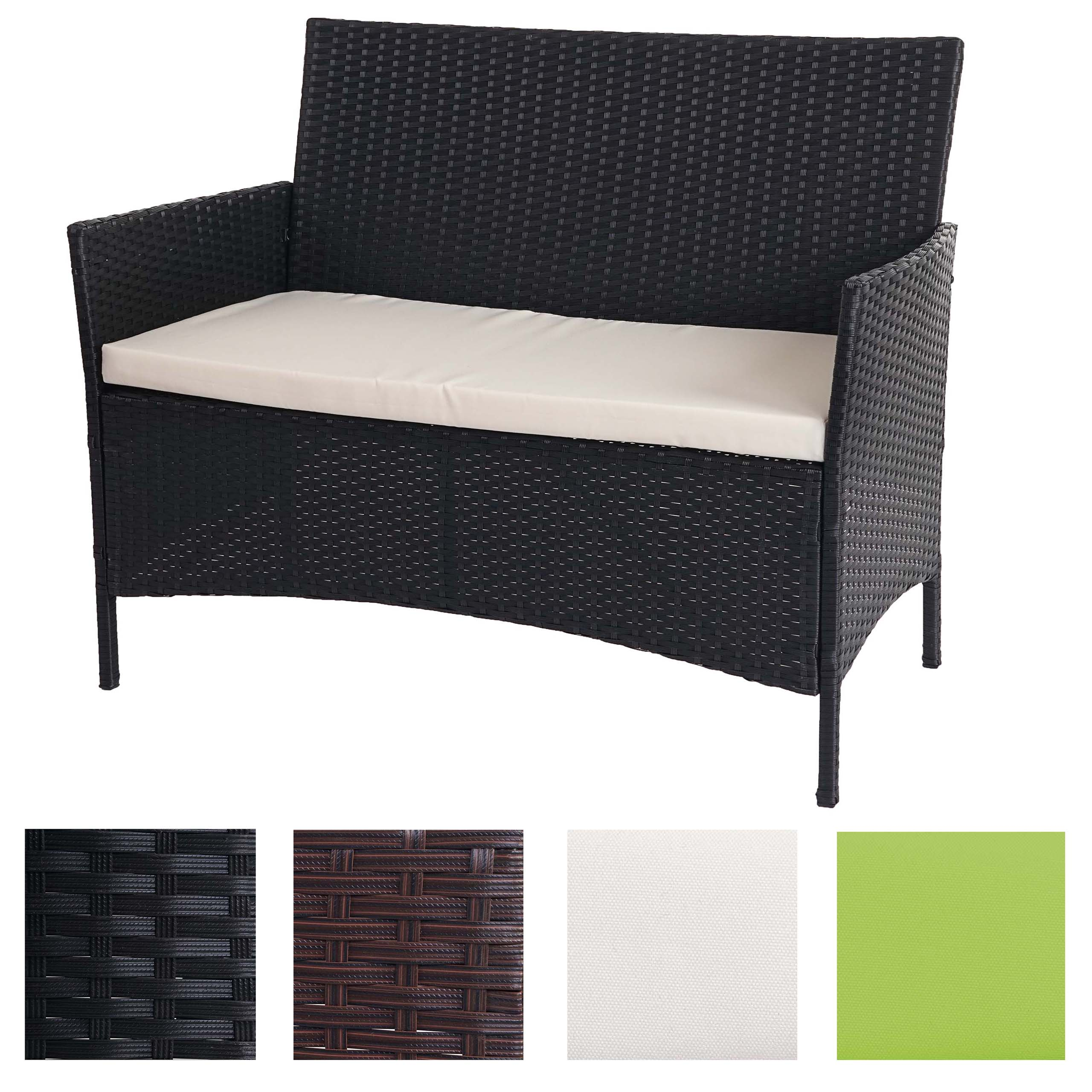 poly rattan gartenbank halden sitzbank bank ebay. Black Bedroom Furniture Sets. Home Design Ideas