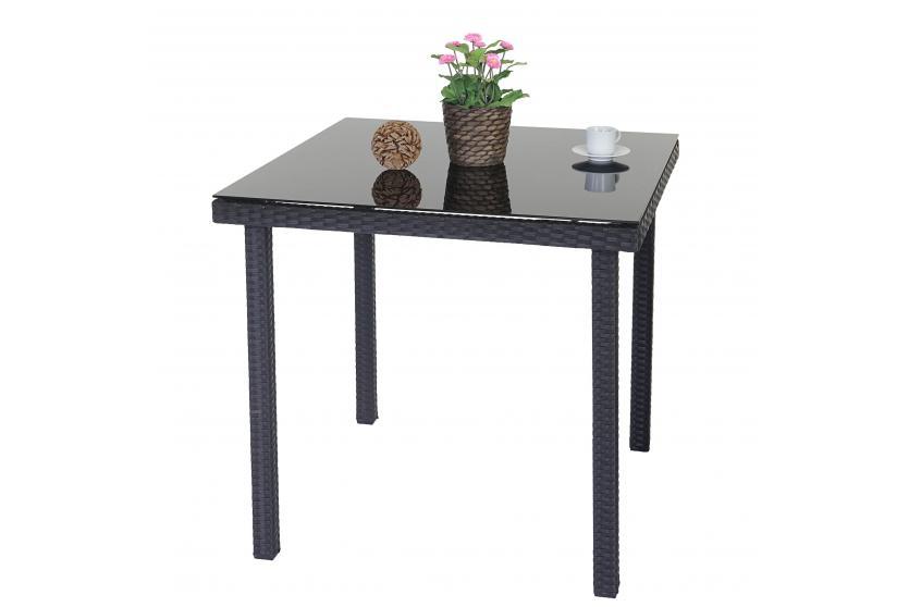 poly rattan gartentisch modica beistelltisch tisch mit. Black Bedroom Furniture Sets. Home Design Ideas