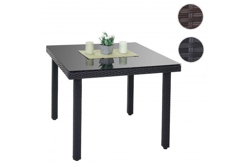 poly rattan gartentisch cava esstisch tisch mit. Black Bedroom Furniture Sets. Home Design Ideas