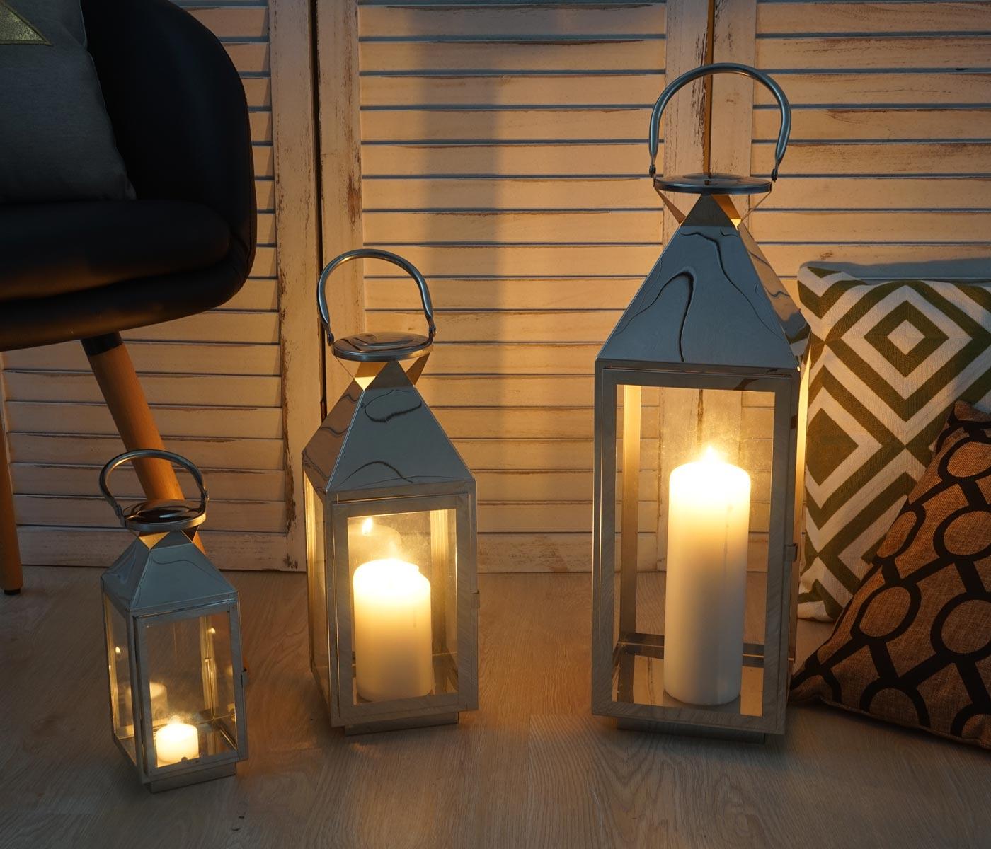 3er set laterne derby windlicht gartenlaterne h he 53 38. Black Bedroom Furniture Sets. Home Design Ideas