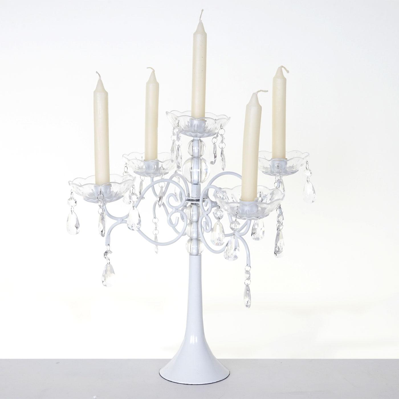 kerzenst nder acryl kerzenleuchter kerzenhalter kristall 41x40x40cm wei ebay. Black Bedroom Furniture Sets. Home Design Ideas