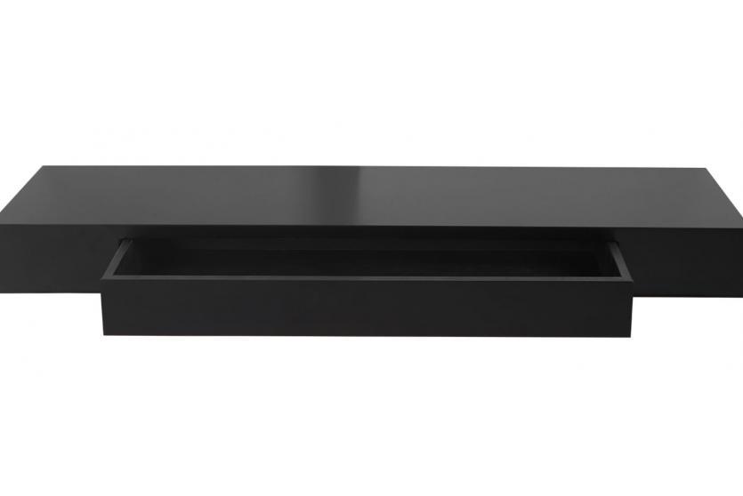 wandregal oise h ngeregal regal 80cm schublade schwarz. Black Bedroom Furniture Sets. Home Design Ideas