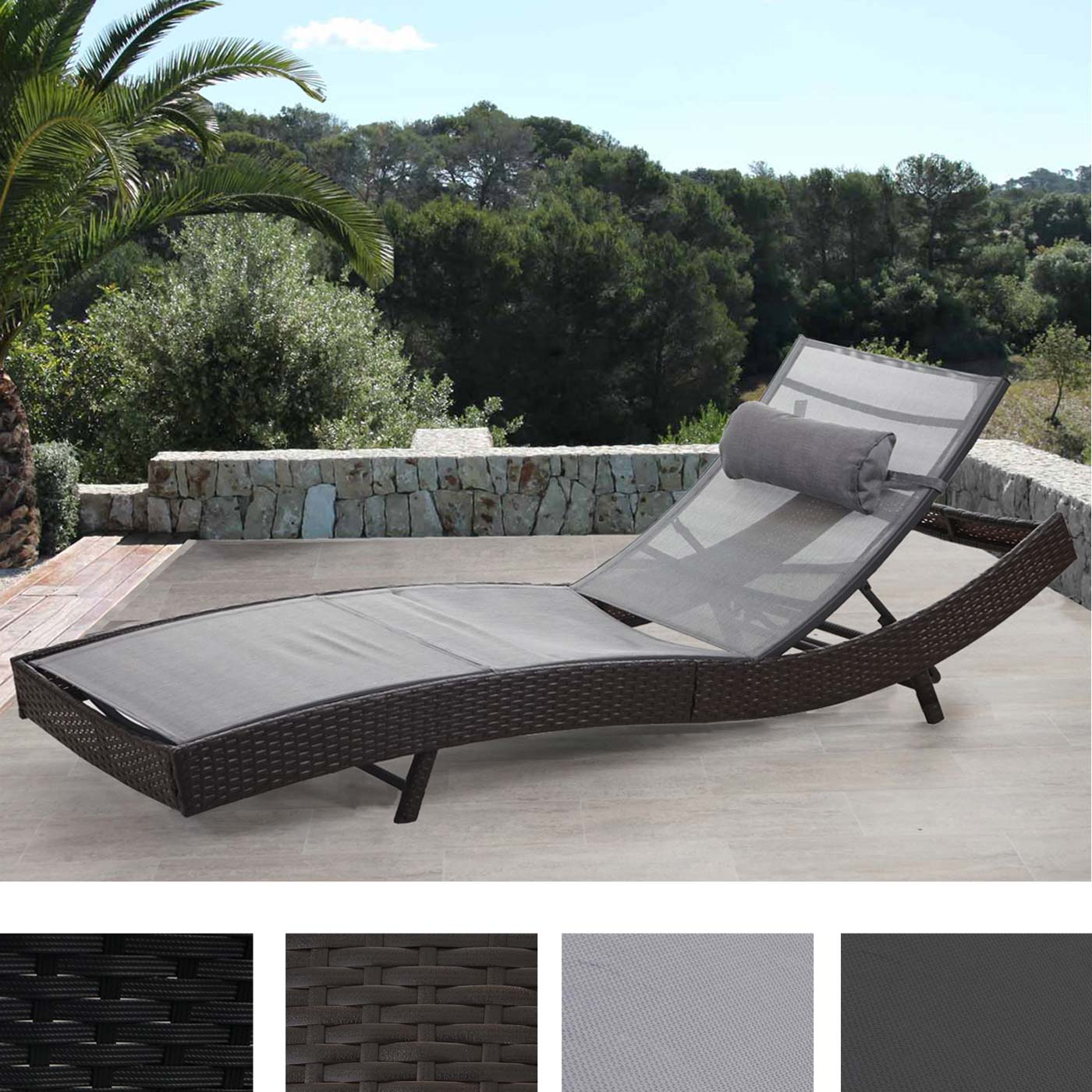 poly rattan sonnenliege savannah relaxliege gartenliege. Black Bedroom Furniture Sets. Home Design Ideas