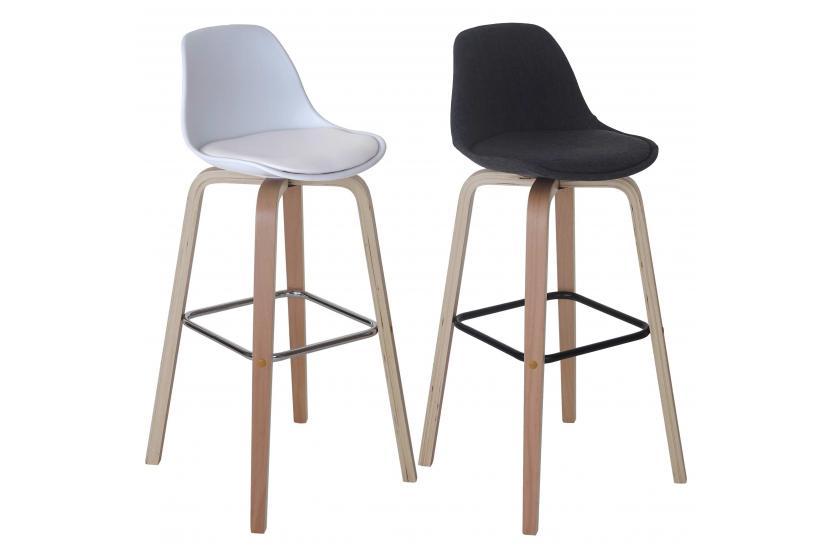 2x stuhl palmdale tresen und barhocker mit lehne kunstleder wei. Black Bedroom Furniture Sets. Home Design Ideas
