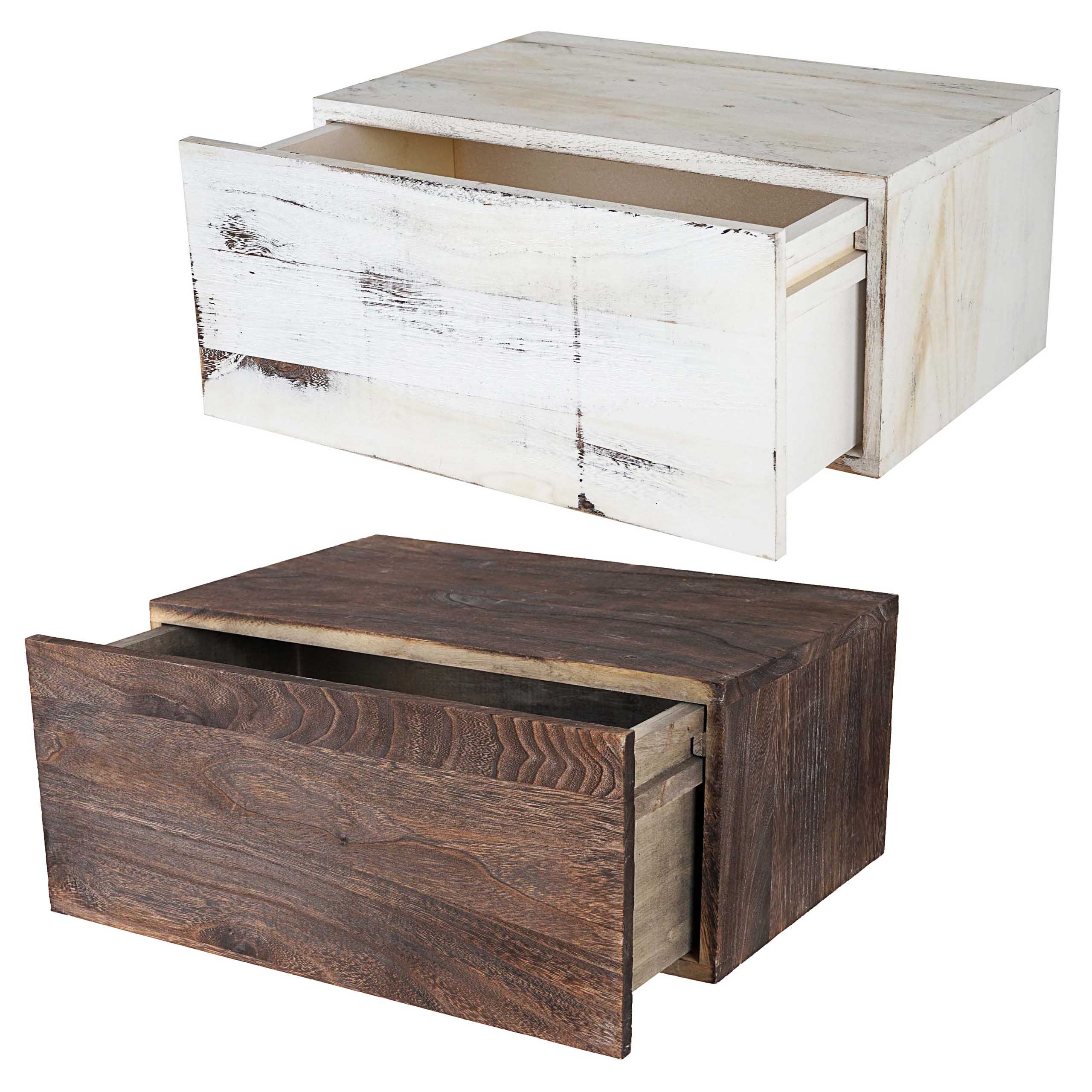 wandregal dinant schubladen regal shabby look vintage 21x46x30cm ebay. Black Bedroom Furniture Sets. Home Design Ideas