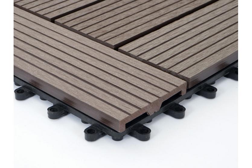1qm wpc holz fliesen sarthe bodenfliesen balkon terrasse coffee versetzt ebay. Black Bedroom Furniture Sets. Home Design Ideas