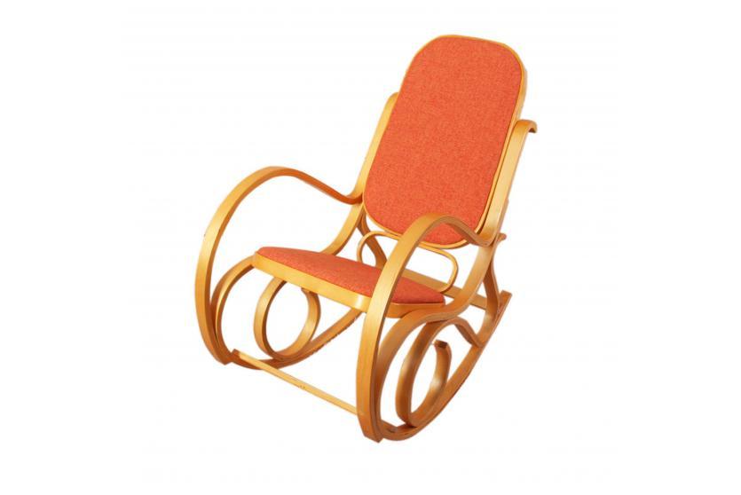 Schaukelstuhl schwingsessel m41 mit stoffbezug ebay for Sessel schaukelstuhl