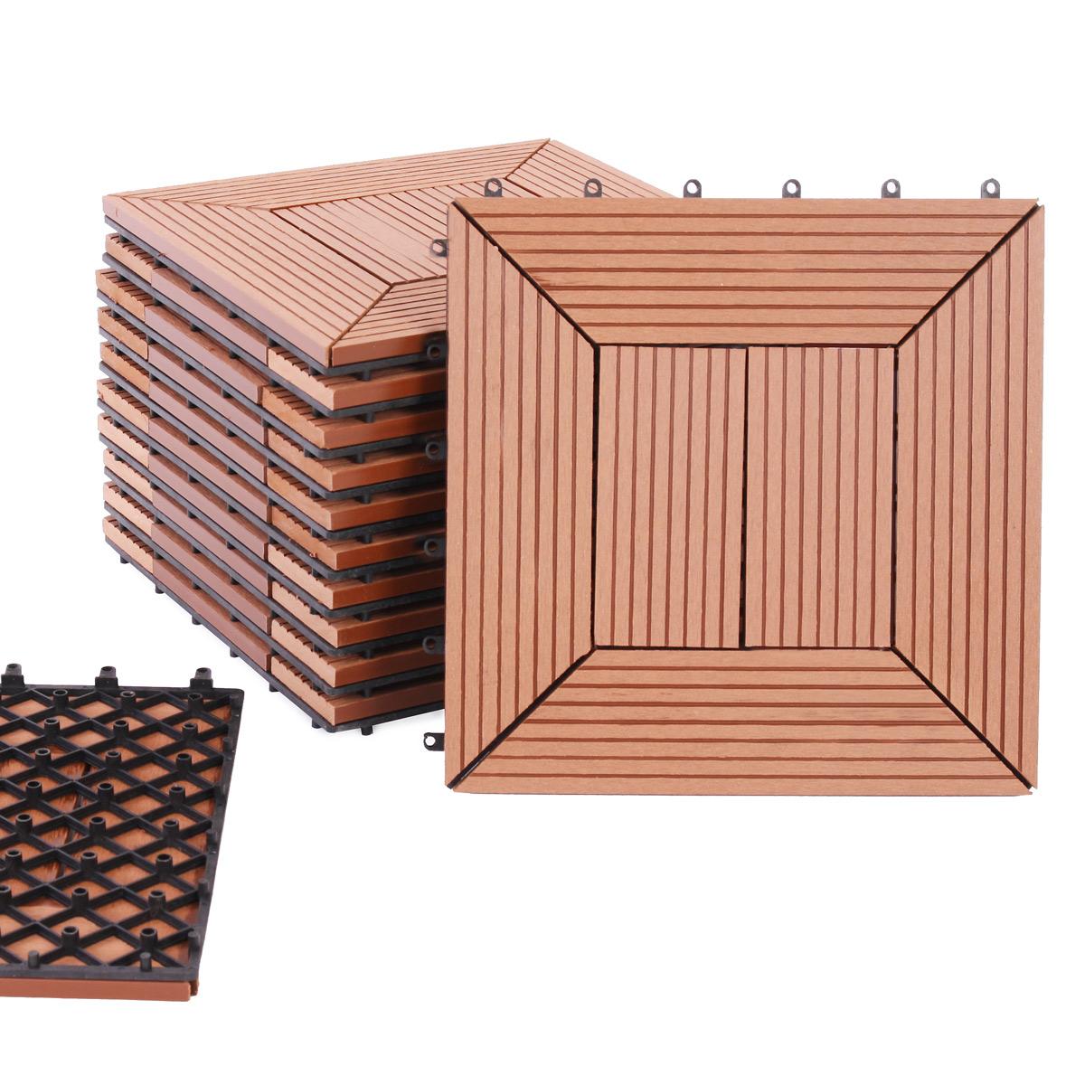 wpc fliesen bodenfliesen bodenbelag 11 holzfliesen 1 m version 3 ebay. Black Bedroom Furniture Sets. Home Design Ideas
