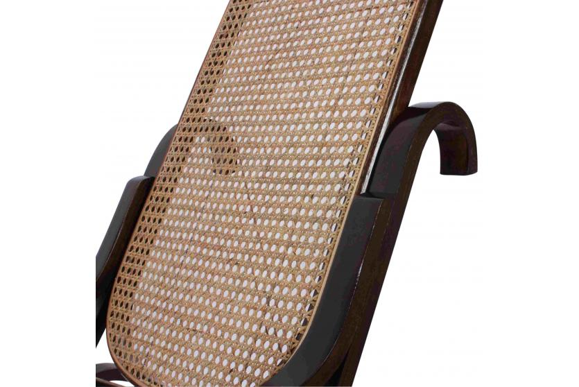 Schaukelstuhl schwingsessel m41 aus holz walnuss rattan ebay for Schaukelstuhl aus rattan
