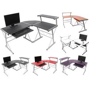 Jugend-Schreibtisch Bürotisch Nevada, ca.100x115x140cm ~ Buche, MDF