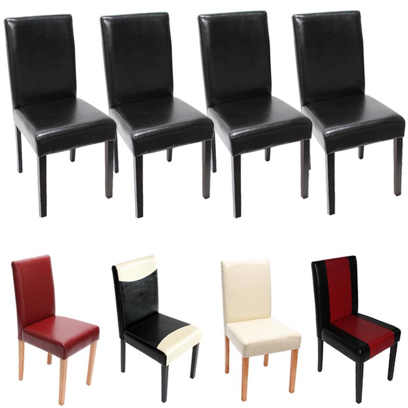 4x esszimmerstuhl stuhl littau leder kunstleder helle. Black Bedroom Furniture Sets. Home Design Ideas