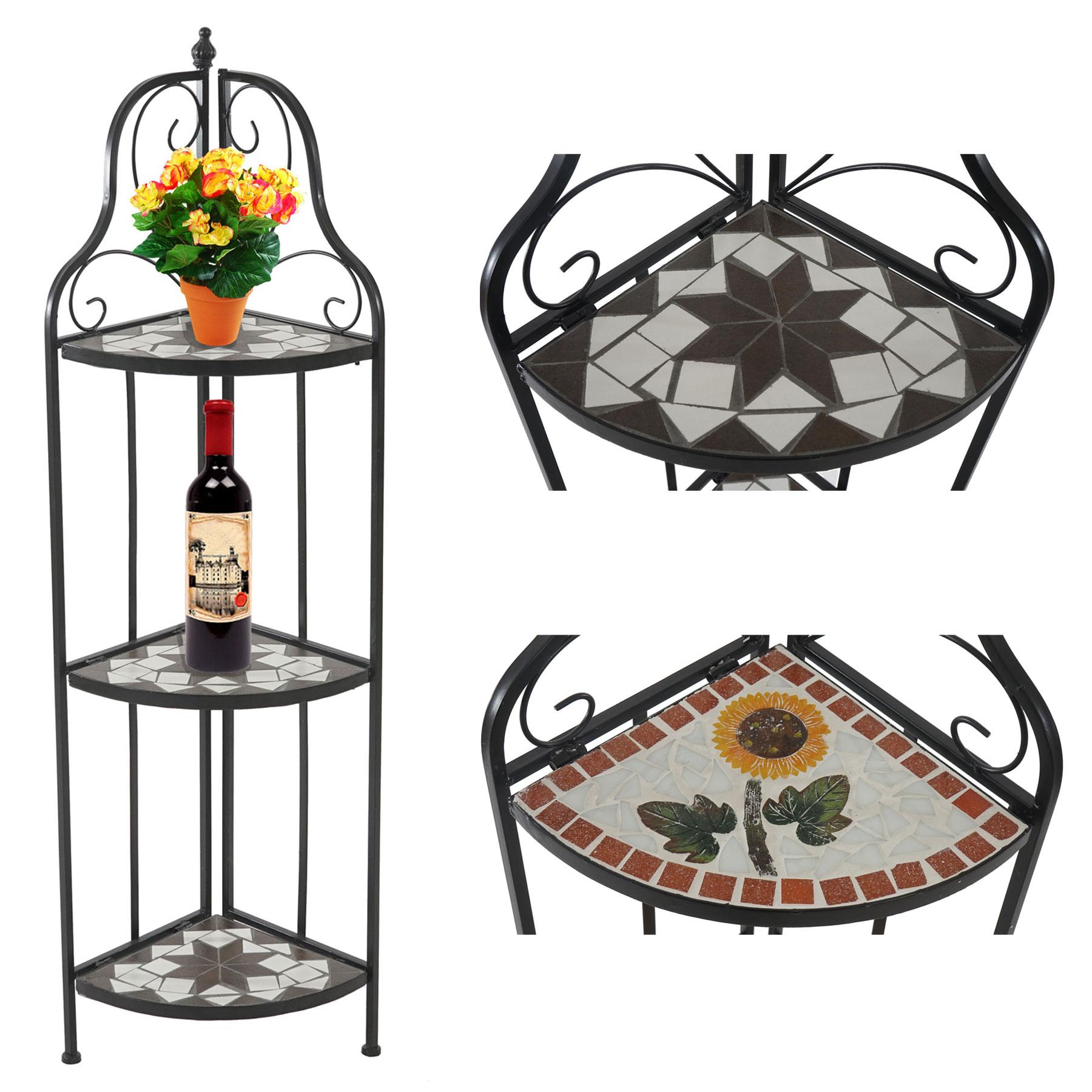 mosaik eckregal andria pflanzregal wandregal metallregal 3 b den. Black Bedroom Furniture Sets. Home Design Ideas