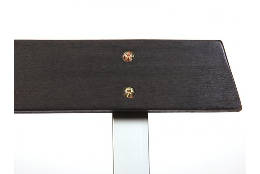 gartenbank bank n48 holz metallgestell teakfarben. Black Bedroom Furniture Sets. Home Design Ideas
