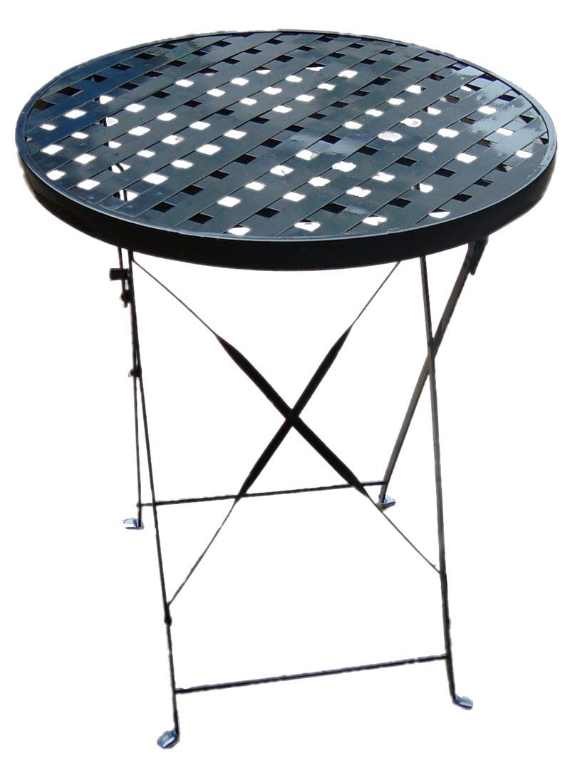 Biergarten tisch gartentisch rund metall d 60 h 70 ebay for Tisch metall