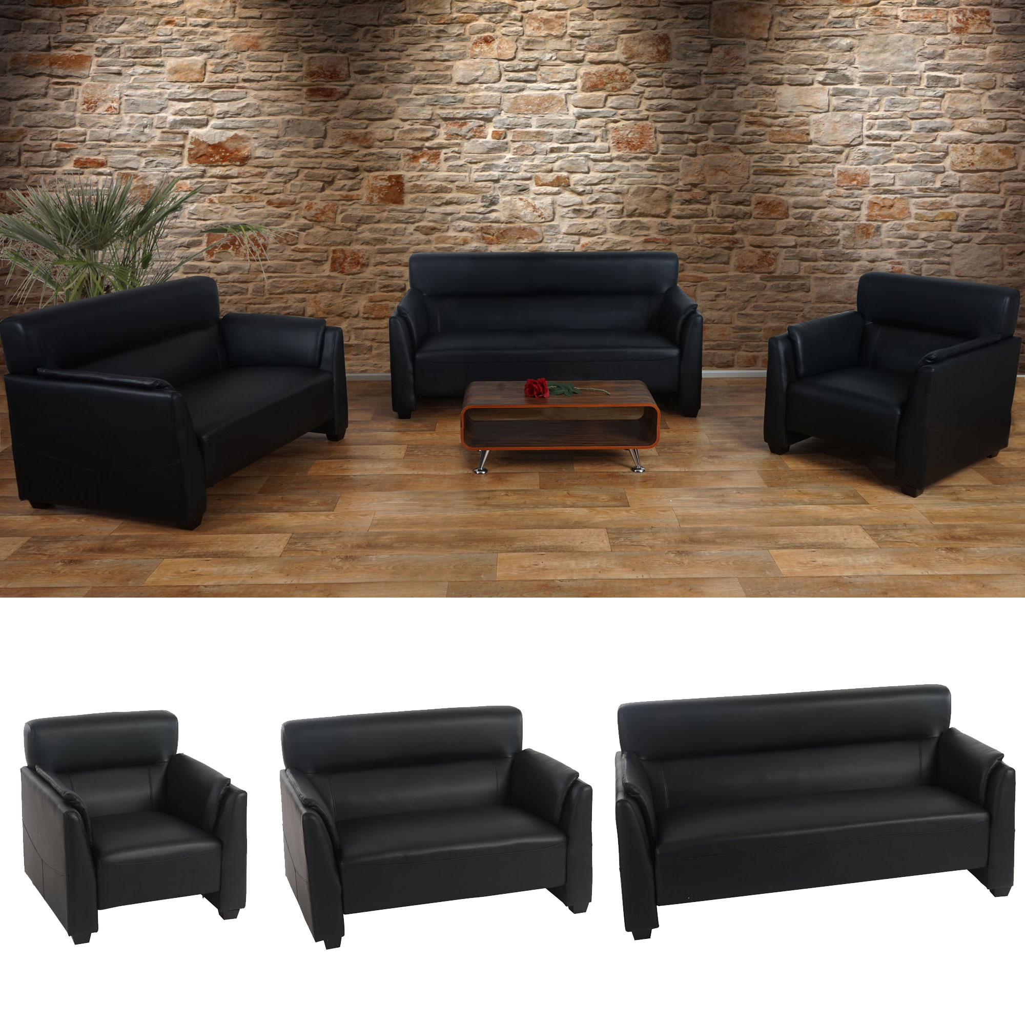 sofagarnitur couchgarnitur loungesofa sessel 2er sofa. Black Bedroom Furniture Sets. Home Design Ideas