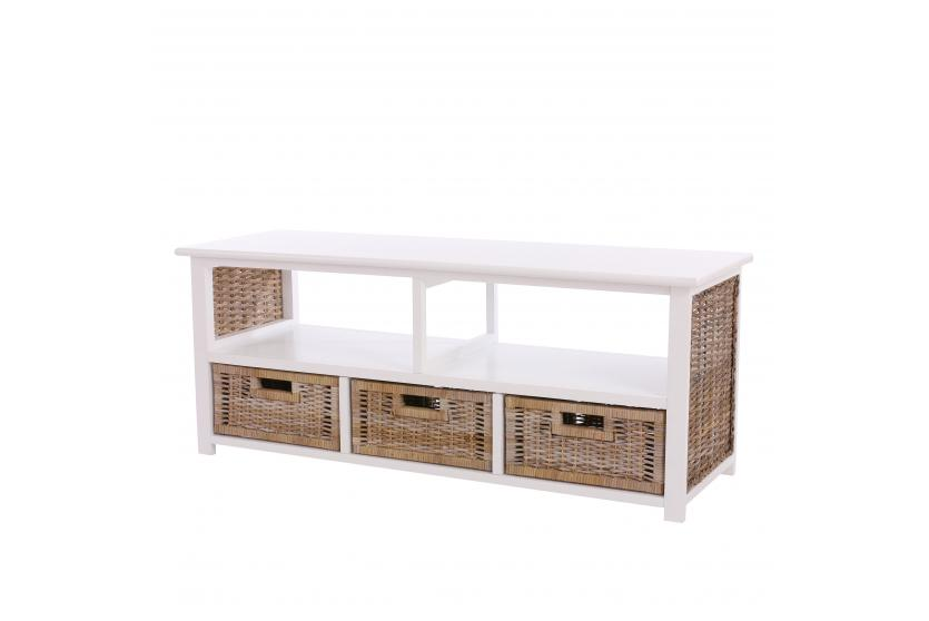 tv rack holz tv rack lowboard fernsehtisch holz rattan. Black Bedroom Furniture Sets. Home Design Ideas