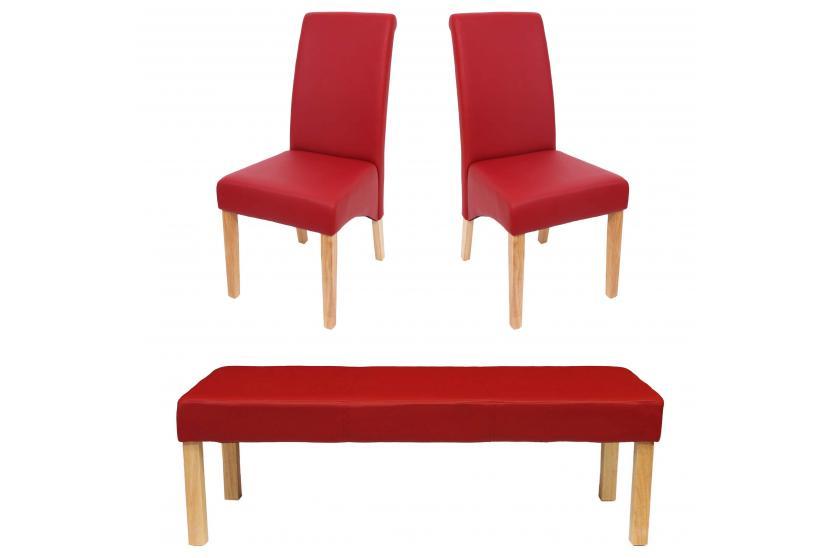 esszimmer garnitur m37 bank 2 st hle kunstleder 120x43x49 cm braun dunkle f e ebay. Black Bedroom Furniture Sets. Home Design Ideas