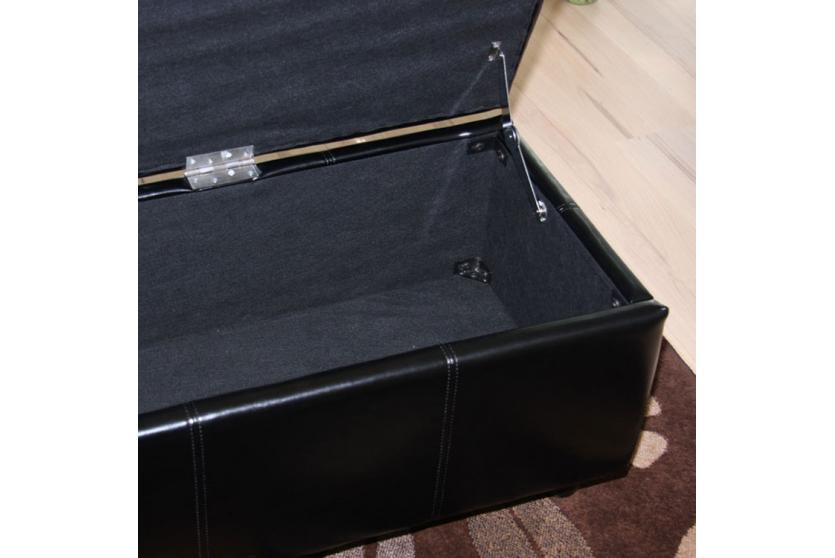 bank sitzbank mit aufbewahrung kriens xxl kunstleder. Black Bedroom Furniture Sets. Home Design Ideas