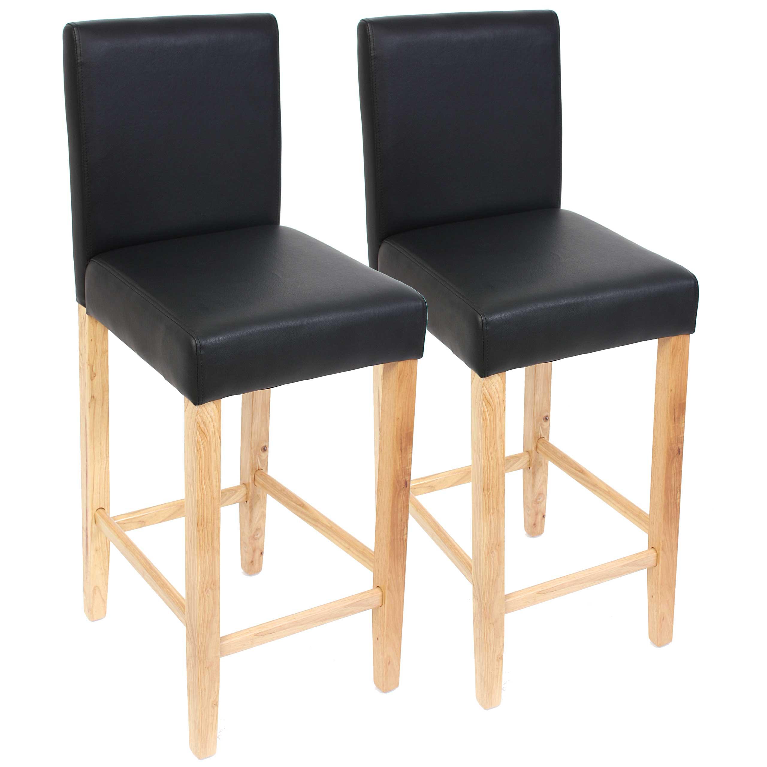 2x Barhocker Barstuhl Tresenhocker Bar Stuhl M37 Leder