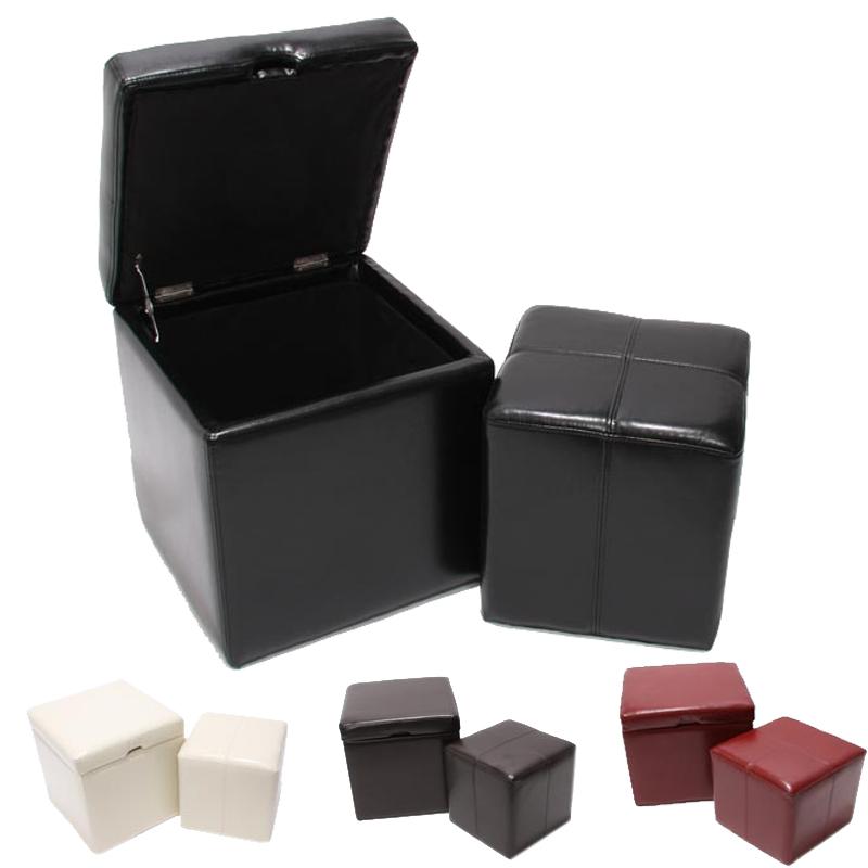 sitzhocker aufbewahrungsbox mit deckel onex leder. Black Bedroom Furniture Sets. Home Design Ideas