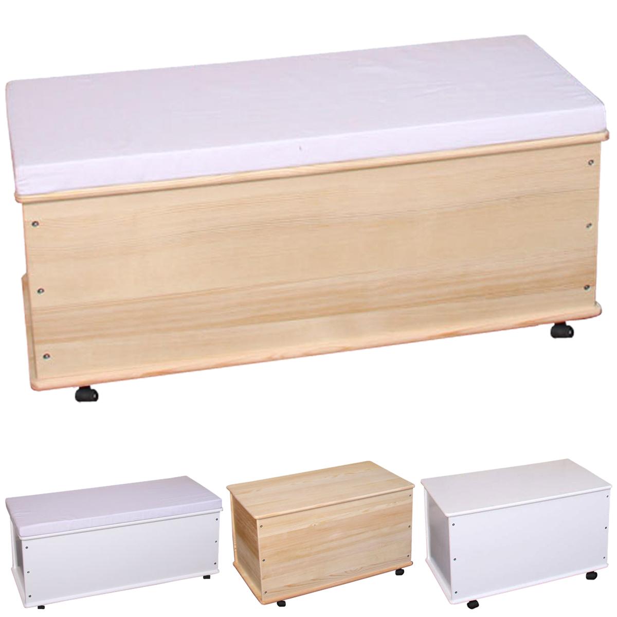 Wäschetruhe Holz Weis Lackiert Wäschekorb ~   Wäschekorb Wäschetruhe Aufbewahrungstruhe Truhe, Kiefer Holz  eBay