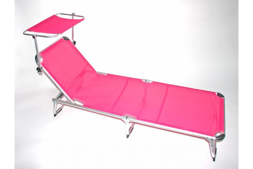 alu liege sonnenliege gartenliege mit sonnendach m11 orange gr n blau creme ebay. Black Bedroom Furniture Sets. Home Design Ideas