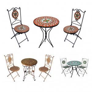 mosaiktisch bistrotisch mosaikstuhl 2 st ck ebay. Black Bedroom Furniture Sets. Home Design Ideas