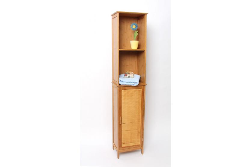 Bambus-Badezimmerschrank, Wandschrank, Hochschrank  eBay