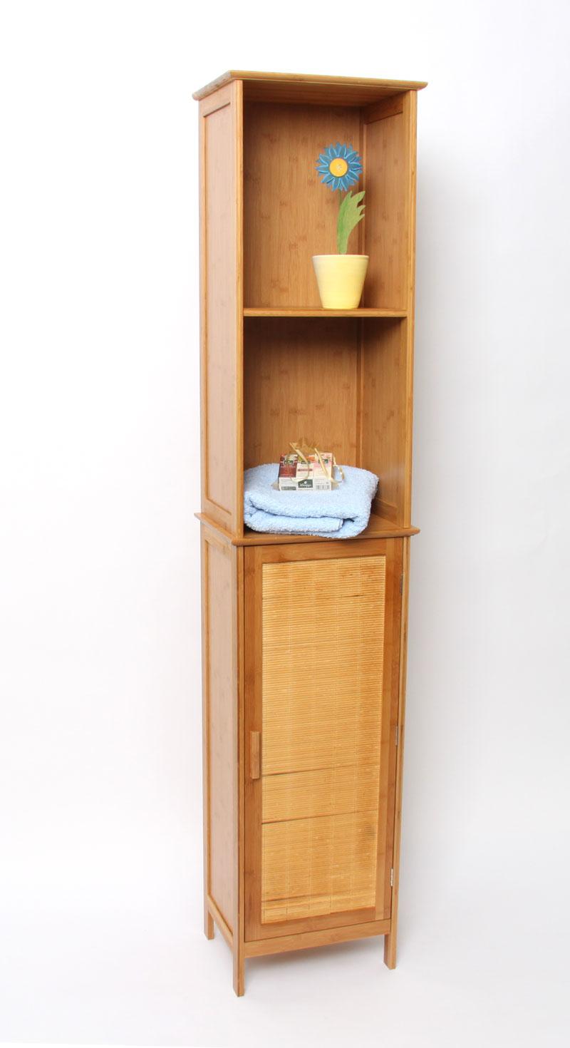 Badezimmerschrank Bambus ~ BambusBadezimmerschrank, Schrankregal, Wandschrank, Hochschrank 1