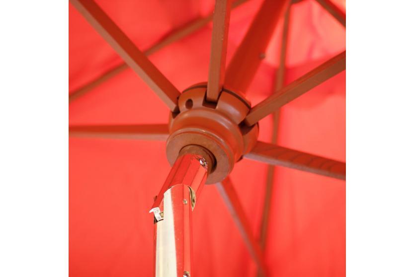 holz sonnenschirm marktschirm florida 3m stabil neigbar kurbel terrakotta ebay. Black Bedroom Furniture Sets. Home Design Ideas
