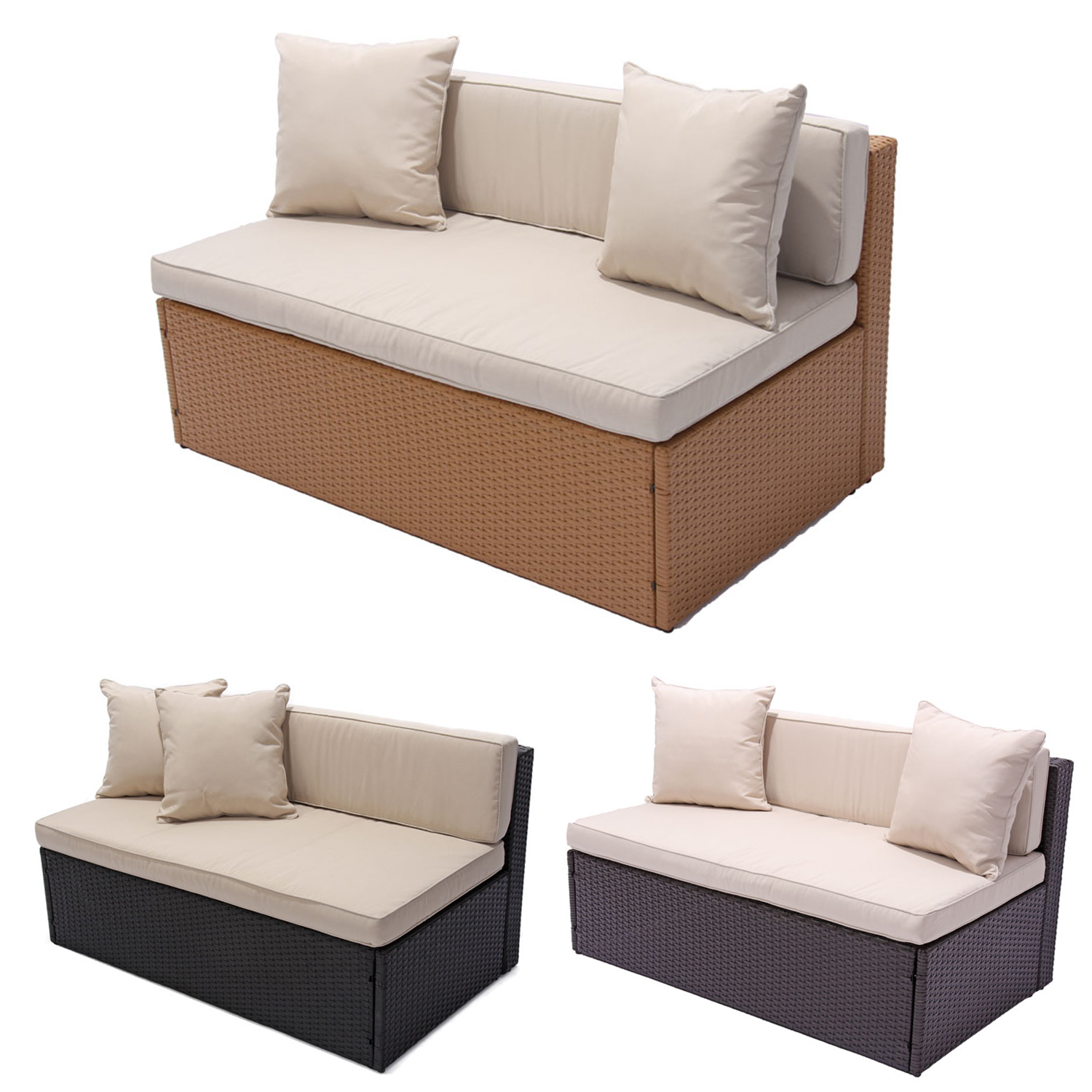 rattan ecksofa f r balkon. Black Bedroom Furniture Sets. Home Design Ideas