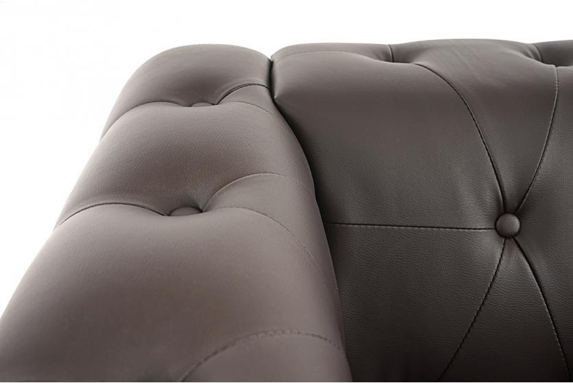 luxus 3 1 1 sofagarnitur couchgarnitur loungesofa chesterfield kunstleder runde f e braun. Black Bedroom Furniture Sets. Home Design Ideas