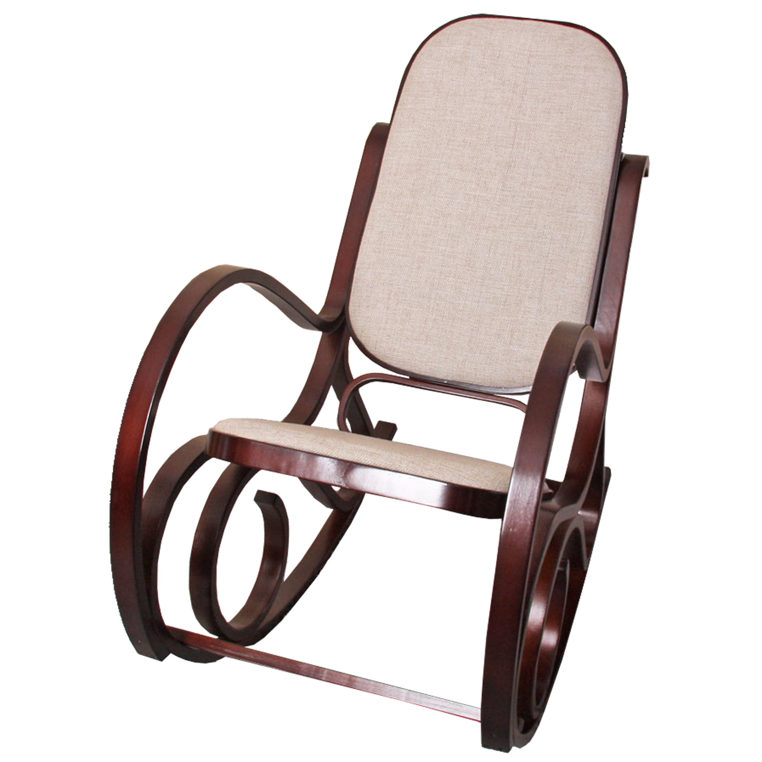 Schwingsessel schaukelstuhl m41 aus holz walnuss stoff for Rocking chair schaukelstuhl